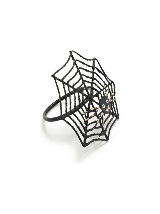Black Spider Napkin Ring -