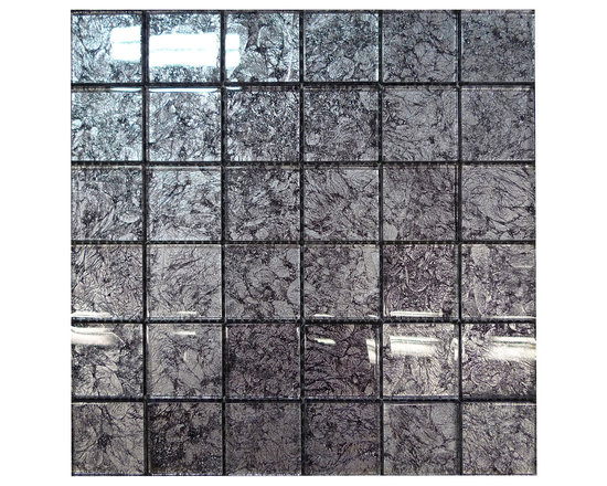 W29 Black Silver Glass Mosaic - Size: 12 by 12 inch/FULL sheet