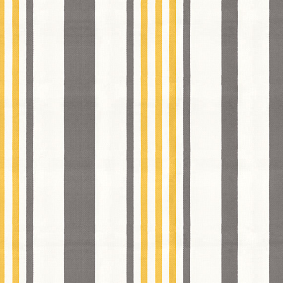 Grey Yellow Amp White Stripe Outdoor Fabric Modern