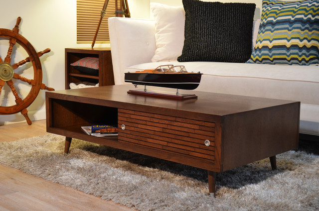 Mid Century Modern Coffee Table Mayan Mocha Modern Coffee Tables