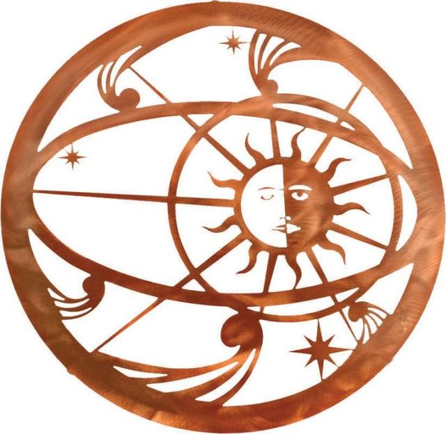 Southwest Metal Wall Art Celestial Sun Moon 18 Quot Rustic