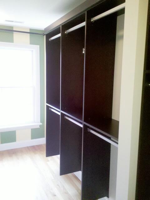 Master Bedroom Closet Suite Designs in Easton, CT. contemporary-closet