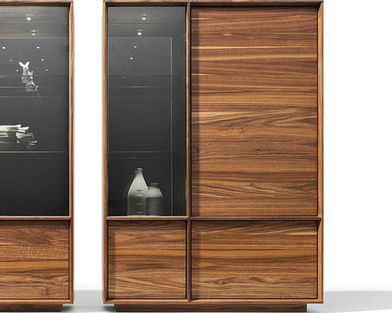 Lux Walnut Display Cabinets - The Lux range has already won three design awards - red dot design, interior innovation award and the green good design award.