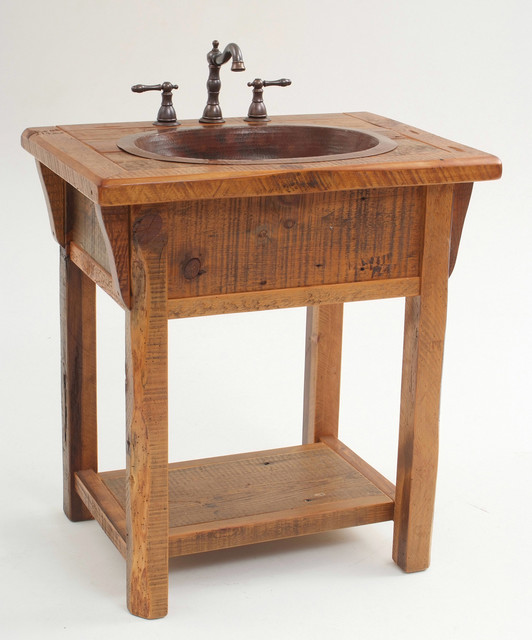 Reclaimed Wood Country Farm Vanity - Country - Bathroom Vanity Units & Sink Cabinets - other ...
