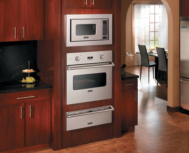 Viking 30 electric single select oven with a warming for Wall oven microwave combo cabinet