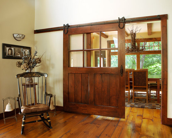 Interior Sliding Barn Door - Custom MIlled, Interior Sliding Door, Knotty Alder Wood