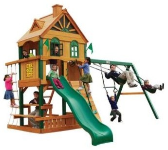 Gorilla Playsets Playground Equipment. Riverview Play Set - Contemporary - Outdoor Playhouses ...