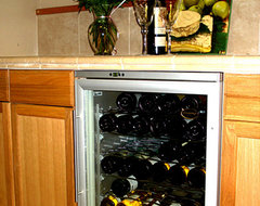 Vinotemp - 58-Bottle White Wine Cooler (White) modern-beer-and-wine-refrigerators