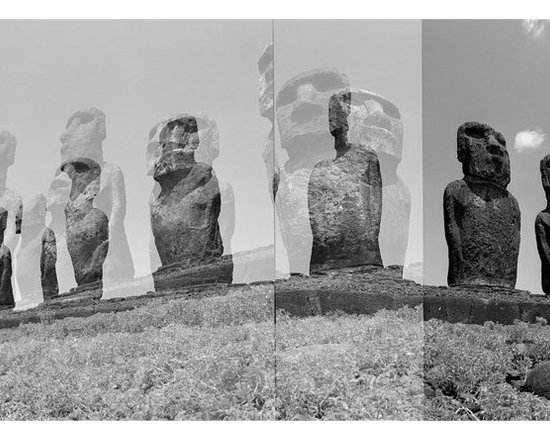 Easter Island Holga Photograph (5) - Photograph shot on medium format film (Holga Style). Holgas are an overlapping of images done in the camera therefor exist like this on the negative and can be printed at any size.