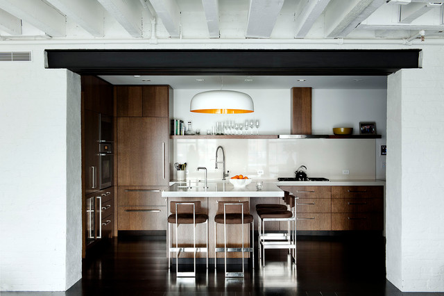 Laight Street Loft - industrial - kitchen - new york - by David