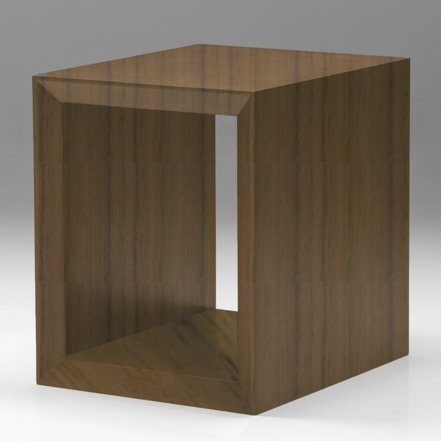 Cubic End Table - Walnut modern-side-tables-and-end-tables