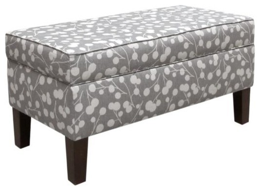 Custom Colton Upholstered Storage Bench - Traditional - Closet Storage ...
