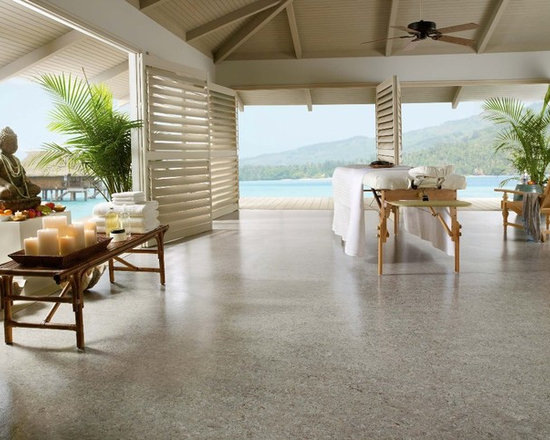 Linorette brand linoleum flooring from Armstrong - This is a Linorette linoleum floor by Armstrong and the colorway is called Silver City. Linoleum is making a comeback as a sustainable flooring options.