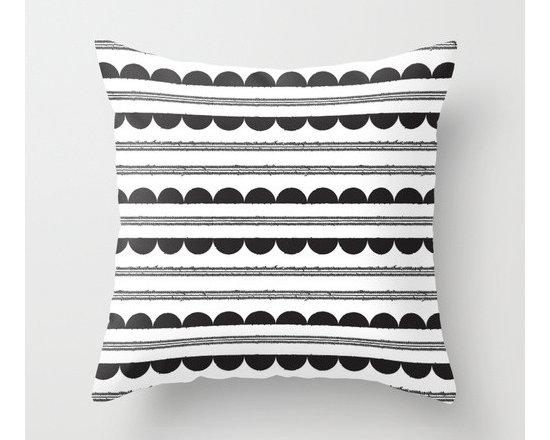 Half-Moon-Pattern Throw Pillow by Heidi Gosen -