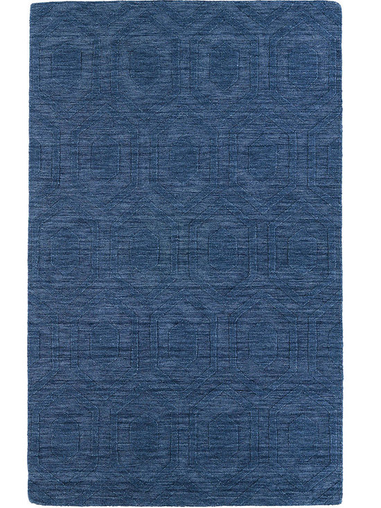 Kaleen - Imprints Modern Ipm01 Blue Rug - Imprints Modern, where textiles meet fashion. Modern textile designs and todays hottest colors combine to meet the new evolution of this beautiful collection. Straight off the runway and into your home each rug is handmade in India of 100% Virgin Wool.