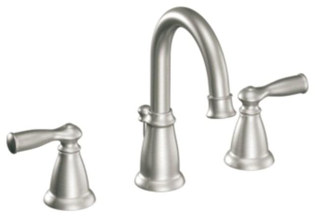 Moen 84924srn Banbury Two Handle Widespread Bathroom Sink Faucet In Spot Resist Traditional