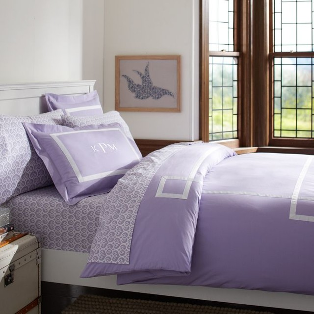 Ribbon Trim Duvet Cover + Sham duvet-covers