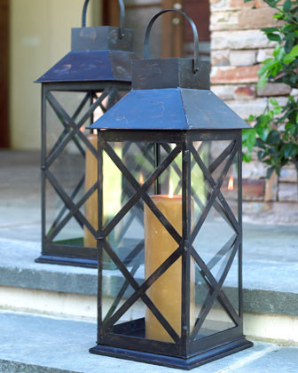 Large X Design Lantern traditional outdoor lighting