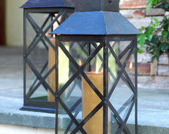 Large X Design Lantern traditional-outdoor-lighting