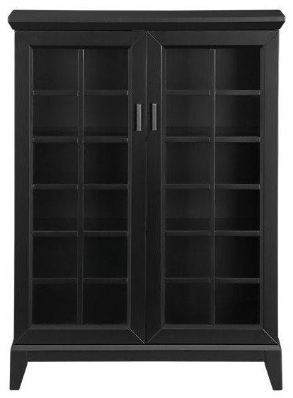 "Paterson Black 36.5"" Two Door Cabinet contemporary-china-cabinets-and ..."
