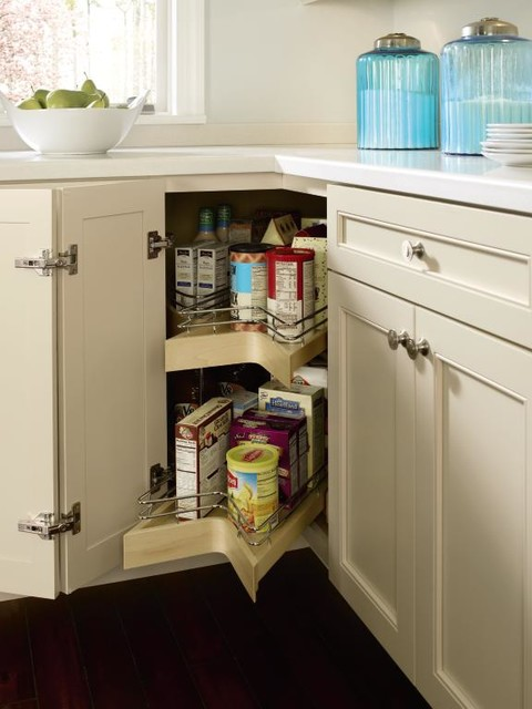 Kemper Lazy Susan Cabinet with Pull-Out - other metro - by MasterBrand Cabinets, Inc.