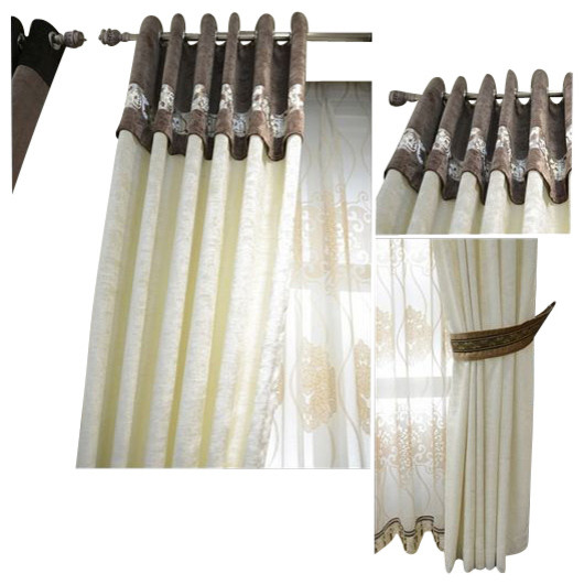 Minimalist Outdoor Contemporary Curtains Luxury Window Curtain MINIMALIST 54 96 With Voile Modern Curtains B