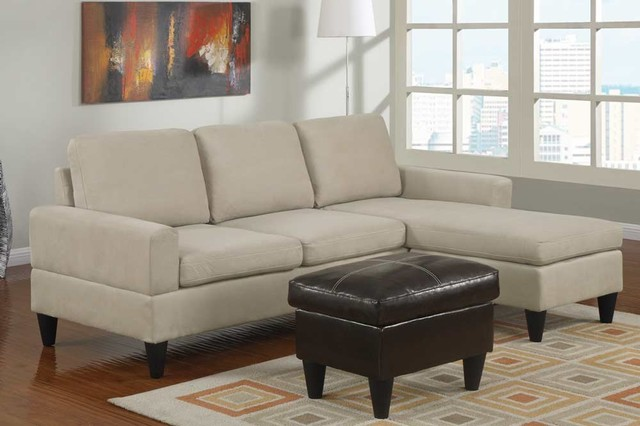 poundex furniture bobkona all in one small sectional sofa set