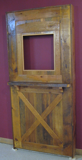 Reclaimed Barnwood Doors - Traditional - Front Doors - other metro - by Vienna Woodworks