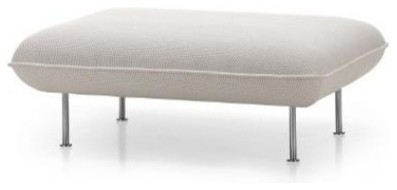 Vitra Alcove Ottoman Seat, Laser Black modern-footstools-and-ottomans
