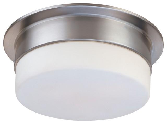 "Sonneman Flange 12"" Satin Nickel Ceiling Light Fixture contemporary-ceiling-lighting"