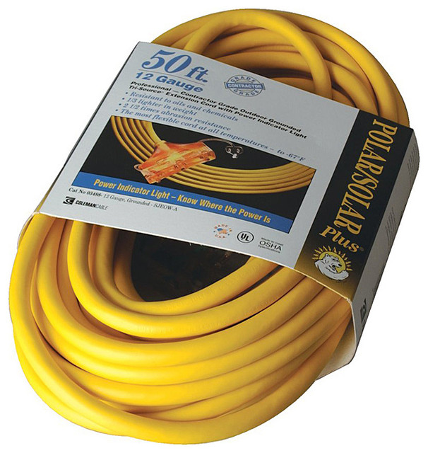 Coleman Cable Tri-Source Yellow Multiple Outlet Extension Cord - Contemporary - Cable Management ...