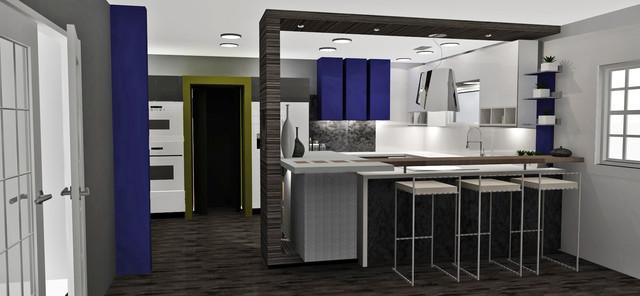 Modern Kitchen Remodel contemporary-rendering