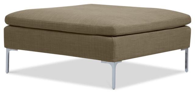 Mayfair Sand Premium Ottoman modern-footstools-and-ottomans