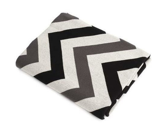 Belle & June - Black/Grey/Ivory Chevron Cotton Blanket - Make a bold statement while keeping cozy with a neutral colored chevron blanket. The comfort of cotton can't be beat as you snuggle down for a warm night in. Pull up a good book, or fire of the Netflix queue, it's gonna be a good night.