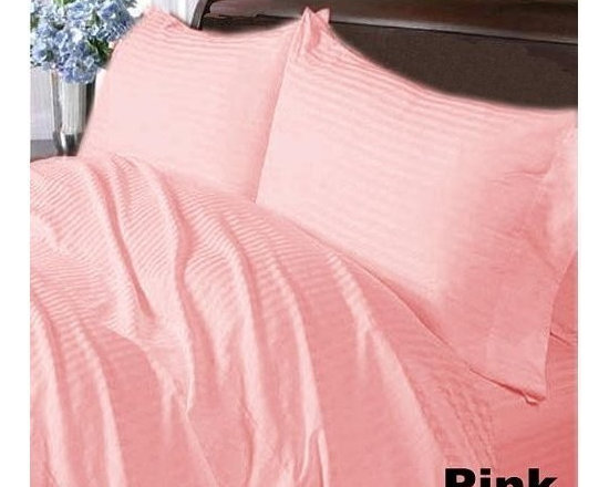 600TC Stripe Pink Flat Sheet & 2 Pillowcases - Redefine your everyday elegance with these luxuriously super soft Flat Sheet. This is 100% Egyptian Cotton Superior quality Flat Sheet that are truly worthy of a classy and elegant look.
