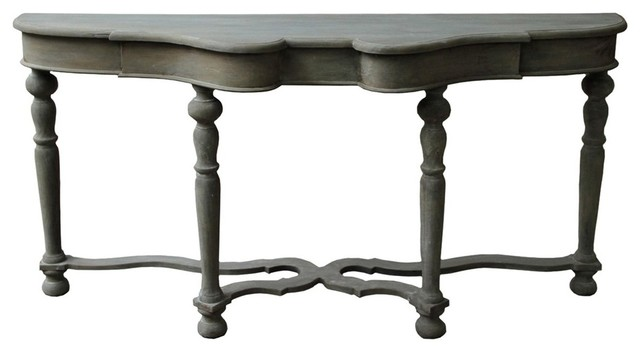 Noir furniture chateau sofa table in weathered - Table console noire ...