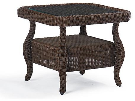 Georgian Glass-inlay Side Table - Frontgate traditional-side-tables-and-end-tables