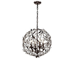 Circeo Orb Chandelier transitional-chandeliers