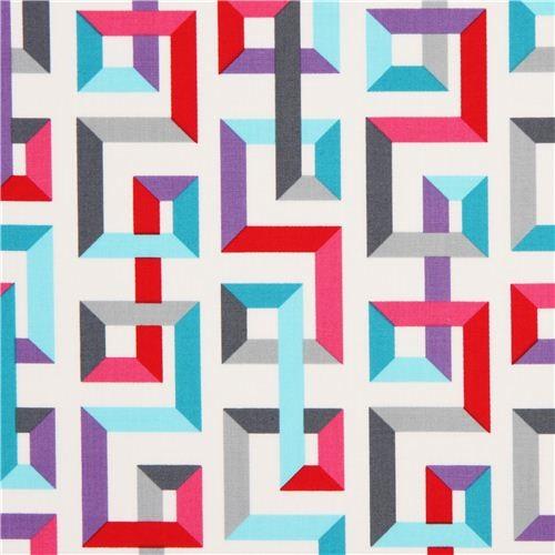 white square pattern fabric by Robert Kaufman fabric