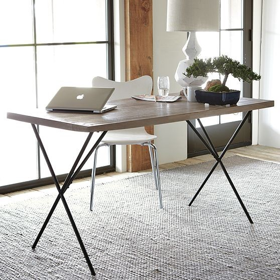 Best Modern Dining Room Chairs Life On Elm St: New Metal Truss Work Table