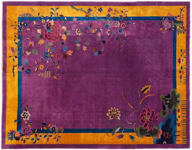 Chinese art deco rug asian rugs by abc carpet for Deco rugs carpet