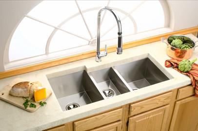 Deep Bowl Sink : Elkay Avado Deep Triple Bowl Kitchen Sink - Modern - Kitchen Sinks ...