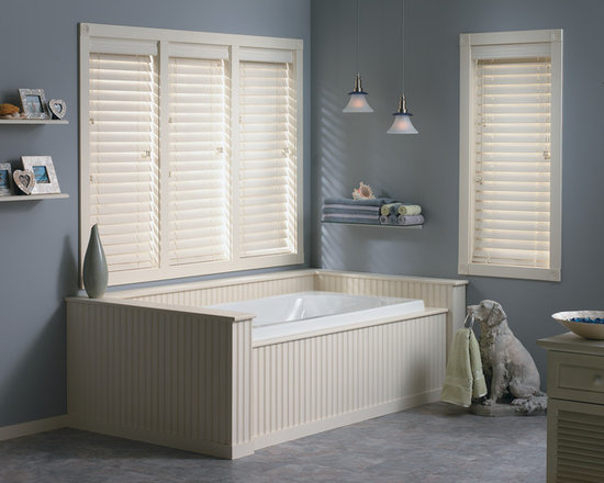 "Bali® Wood Images 2 1/2"" Faux Wood Blinds - Wood Images capture the essence and look of real wood blinds, while the moisture resistant slats are perfect for high humidity areas."