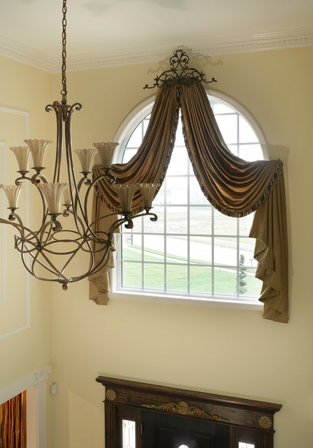 Arch Window Treatment traditional curtains