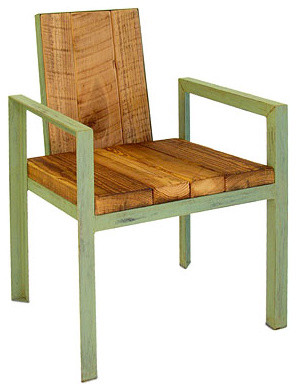RECLAIMED WOOD OUTDOOR CHAIR Eclectic Outdoor Lounge