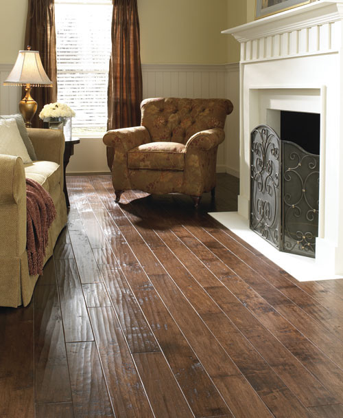 LM Flooring Hand Scraped Asheville Maple Tavern traditional wood flooring