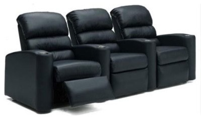 Kiira Designs - Forum Leather Motorized Home Theater Seating with Bass Shaker modern-chairs