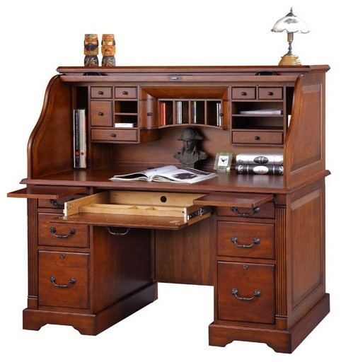 Country Roll Top Desk Traditional Desks Amp Writing