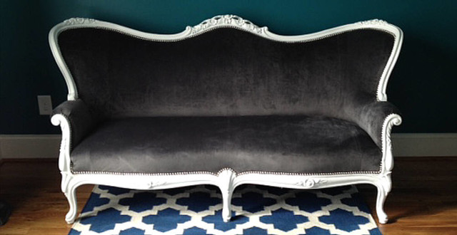Queen Anne Sofa With Brush Nickel Nailheads Traditional Sofas Atlanta By Buckhead