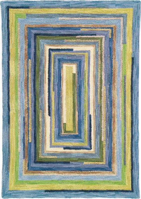 Squares in Sky Rug contemporary-rugs